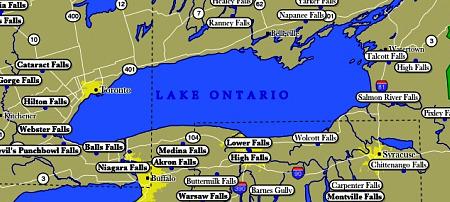 Lake Ontario on us Map Lake Ontario Map