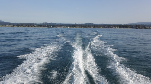calm ocean waters for opening day of salmon fishing off santa cruz california