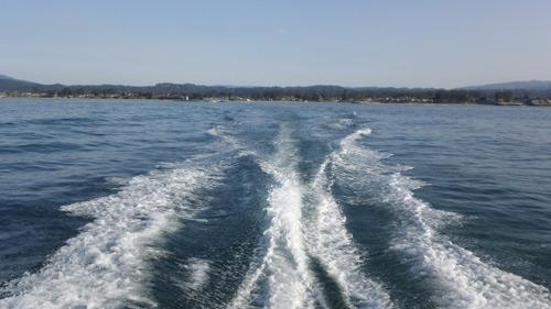 calm ocean waters for opening day of salmon fishing off santa cruz california